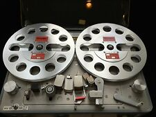 """ONE PAIR   New  7"""" Aluminum Anodized metal Reel to Reels   SILVER"""