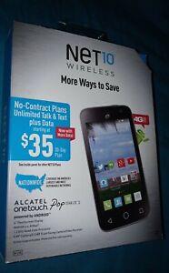 Brand New Sealed Net10 Alcatel Onetouch Pop Star LTE2 Quad-Core Smartphone-Black