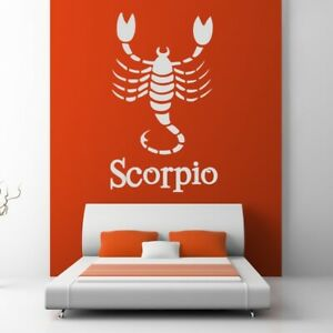 Scorpio Zodiac Star Sign Horoscope Wall Art Sticker (AS10177)