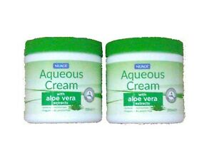 2x Nuage Aloe Vera Aqueous Cream Softens Moisturising Lanolin Free