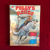 Whitman 1978 Coloring Book Polly's Rodeo Uncolored Vintage