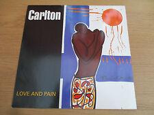 "CARLTON - LOVE AND PAIN   Vinyl 12"" 45RPM 1991 Breakbeat THREE STRIPE REC SNMX 4"