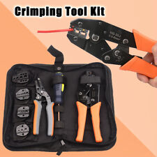 Crimping Tool Kit Set 5 Changeable Jaws For Insulated&Non-Insulated 0.5-35mm