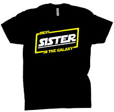 Best Sister In The Galaxy Shirt Gift Tee T Shirt Black T-Shirt