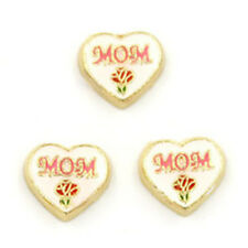 Mom Red Rose Heart Floating Charm for Glass Living Memory Locket-1 Charm