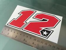 TP Maverick vinales number 12 sticker/decal - 150mm x 75mm/1008