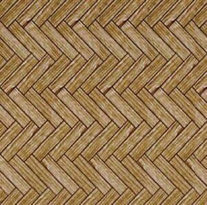 1/12 Streets Ahead Dolls House Medium Wooden Parquet Flooring paper A3 Sheet