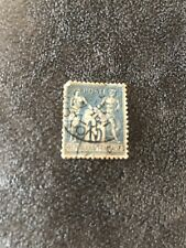 FRENCH POSTE STAMP FRANCAISE 1903 15c BLUE SG D52A  F.U. RARE CAT £1,300