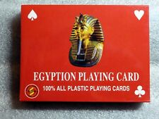 2 All Plastic Egyptian Playing Cards Gift Set;  54 Cards each Deck, New Sealed.