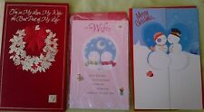 Price Reduced! Very Nice & Pretty ! Christmas Wife Card~Retails $6.29 + Free S&H