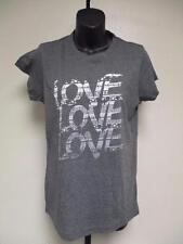 NEW Love Love Love Womens M Medium Charcoal Gray T-Shirt by J. America