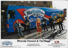 """SIGNED RHONDA VINCENT & THE RAGE """"MARHTA WHITE BLUE GRASS BUS"""" PICTURE PHOTO"""