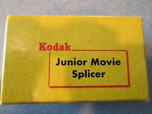 VINTAGE KODAK JUNIOR MOVIE SPLICER 8 mm 16 mm with box bottles, instructions