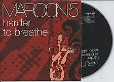 MAROON 5 - Harder to breathe PROMO CD SINGLE 1TR EU PRINT 2003
