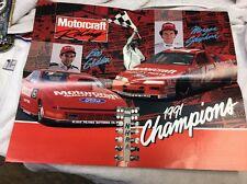 Vintage 1990's NHRA Drag Racing SUPERSTAR Poster Handout Motocraft