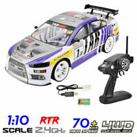 70km/h High Speed 1/10 Scale 4WD High Simulation RC Racing Car Drift Vehicle RTR
