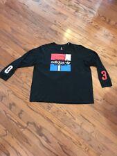 Adidas Originals Trefoil Long Sleeve T-Shirt Black MULTI Color Men's Size 2XL
