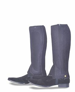 Black  Mesh Half Chaps - with Gusset