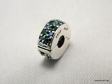 AUTHENTIC PANDORA MOSAIC SHINING ELEGANCE CLIP MULTICOLOR TEAL  #791817MCZMX