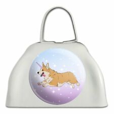 Unicorg Corgi Unicorn White Metal Cowbell Cow Bell Instrument