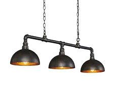 Hängelampe Hängeleuchte LEAH Metallgestell Industrial Design mit 3 E27 Fassungen