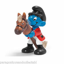 SCHLEICH SMURFS OLYMPIC SPORTS - 20743 - Show Jumper Smurf Figure - Retired