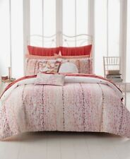 Style & Co Scarlett Red/White Embroidered 2-Piece Reversible Euro Pillow Shams