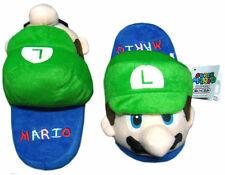 """Nintendo Super Mario Brothers Bros Luigi 9"""" Kids Children Plush Slipper 1 Pair"""