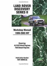 Land Rover Discovery Series 2 Workshop Manual 1999-2003 MY (Land Rov... NEW BOOK