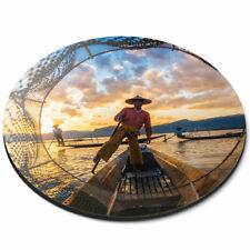 Round Mouse Mat - Inle Lake Myanmar Burma Asia Office Gift #3385