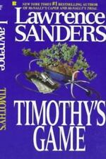 Timothy's Game by Lawrence Sanders (1989, Paperback) DD157