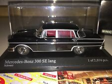 400035201 MINICHAMPS 1:43 MERCEDES BENZ 300 SE LANG 1965 BLACK NEW MEGA RARE