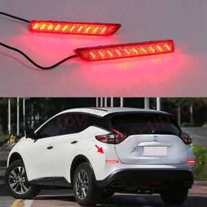 FOR Nissan Murano 2015-2021 LED Rear Bumper Light Fog Lamp Brake turn signal 2PC
