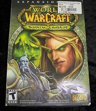 World of Warcraft Burning Crusade Expansion Pack (PC, MAC 2006) 4 Disk Set