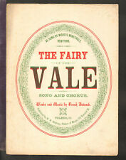 Fairy Of The Vale 1866 Toledo OH Song/Chorus Antique Sheet Music