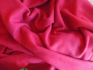140 x 120 cms Vintage Wool Blend Suiting Fabric Cerise Pink Sewing Crafting