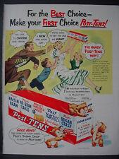 1951 Post-Tens Bear Cubs Toasties Raisin Bran etc Cereal Vintage Print Ad 12356