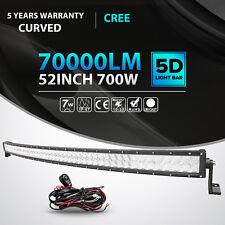 "5D 52""Inch 700W CREE Curved Led Light Bar Spot Flood Offroad 4X4WD ATV Truck 54"""