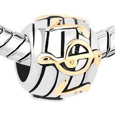 Gold Silver Crystal Charm Birthstone Pandora Charms Bracelet Jewelry Beads Gift