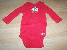 Size 3-9 Months Gerber Long Sleeve Red Onesie One-Piece CHILLIN' Polar Bear EUC