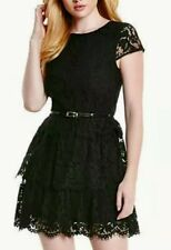 NWOT Guess by Marciano black Charlene lace party cocktail dress size XS