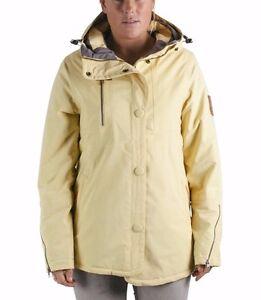 NWT WOMENS HOLDEN NAOMI SNOWBOARD JACKET $360 M soft yellow peacoat hood