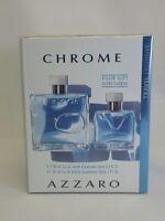 Chrome by Azzaro for Men - 2 Pc Gift Set 3.4oz EDT Spray, 1 Oz  EDT Spray New