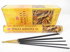 Lot Of 120 Stick Palo Santo Incense Hem ~ 6 Tube Of 20 Sticks = 120 Holy Wood