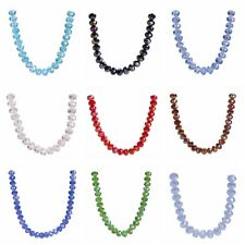 300pcs Faceted Crystal Glass Loose Spacer Rondelle Beads for Jewelry Finding 6mm