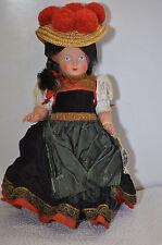 alte Trachtenpuppe -  Puppe Schwarzwald Mädchen Zelluloid