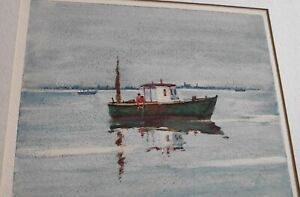 Ellsworth P. Smith Original Signed Water Color 'Sea of Tranquility'