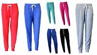 NEW Womens Ladies Soft  lightweight Track Pants with Elasticised Cuff Trousers