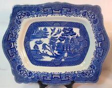 """Antique 13"""" Royal Venton Ware BLUE WILLOW John Steventon Tray Platter"""
