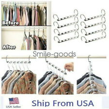 2pcs Metal Cascading Wonder Hangers Space Saver Closet Organizer Clothes Racks